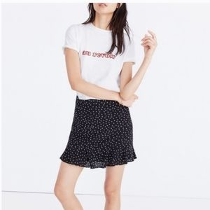 Madewell Silk Ruffle Star Print Skirt Size 4